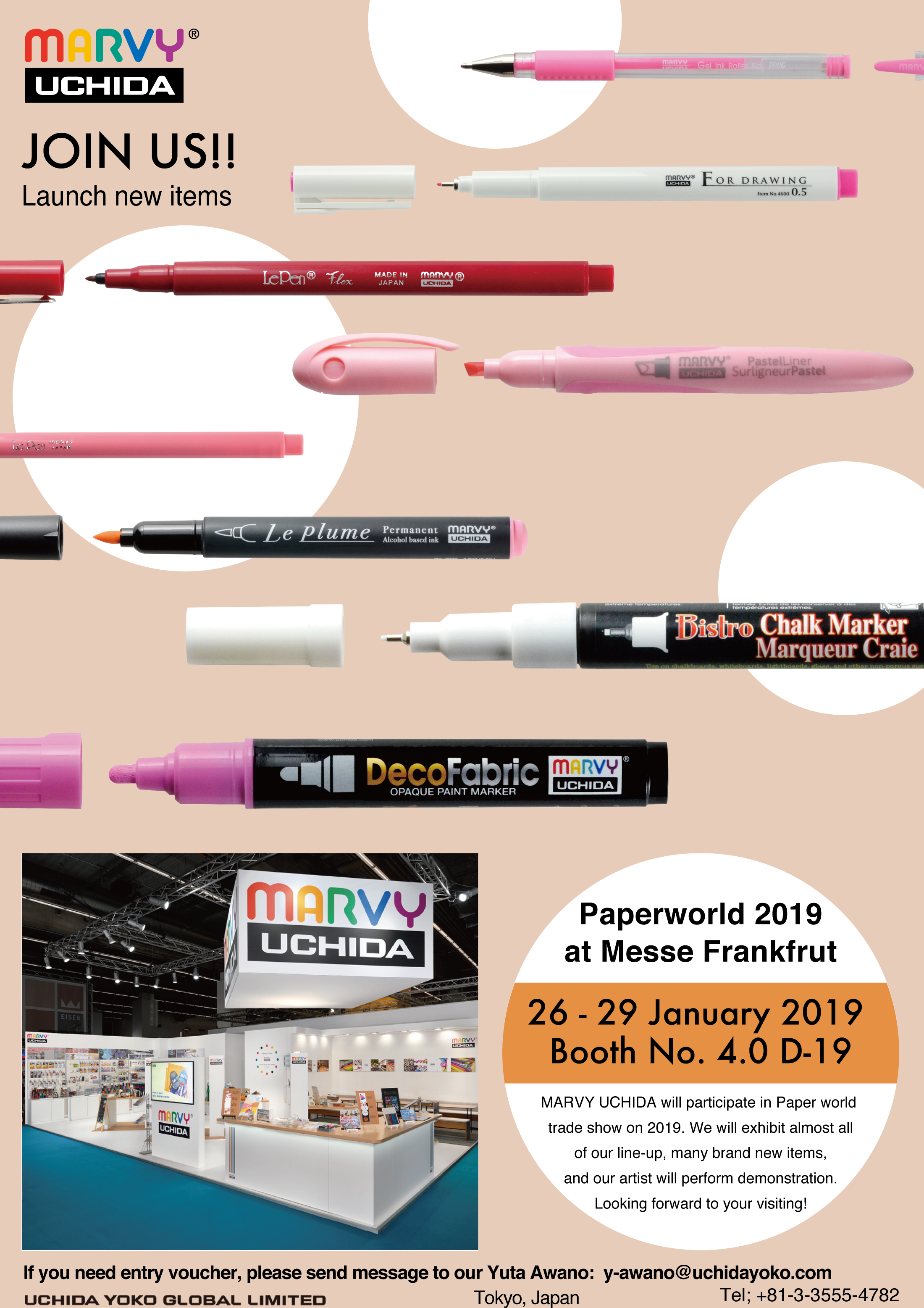 We will be exhibiting at Paperworld 2019 in Frankfurt, Germany